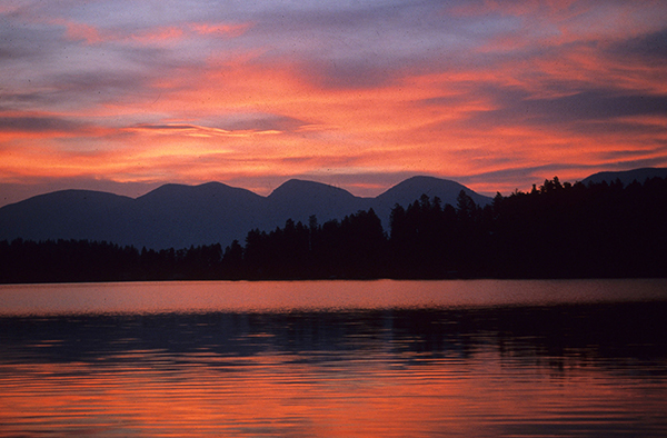 flathead lake sunrise
