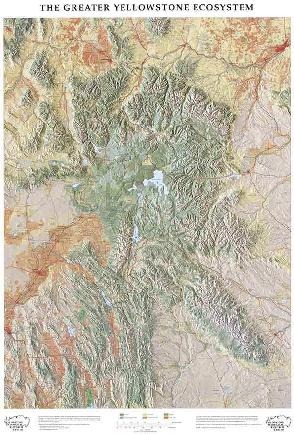 yellowstone ecosystem physical map